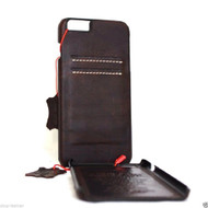 Genuine Real leather case for iphone 6s plus cover book wallet  credit card id business slim davis case 6+ pro