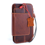 genuine vintage leather case for iphone 6s plus cover Detachable book wallet credit card id Removable magnet Art 6