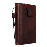 genuine Vintage oiled leather case for Microsoft  lumia 950 book wallet slim cover brown credit cards slots thin luxurey RETRO daviscase