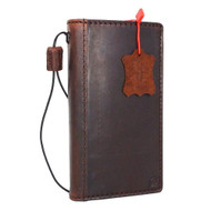 Genuine full leather Case for Htc 10 book wallet luxury cover s Businesse cards slots slim brown daviscase