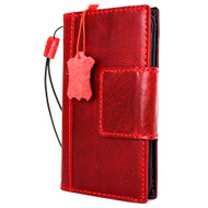 genuine vintage leather Case fit for Samsung Galaxy S7 book wallet luxury cover s 7 magnetic red