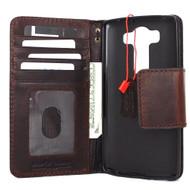 genuine oiled leather Case For for LG V10 cover book luxury pro wallet handmade art Art 10 v