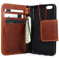 genuine vintage leather case for iphone 6s 6 cover book wallet credit card id safe magnet business slim JP s