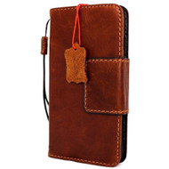 genuine vintage real leather case for iphone 6s plus sport cover book wallet credit card id magnetic business slim 6 plus pro