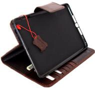 genuine natural Leather Bag for apple iPad mini 3 2 case cover magnet barcket slim