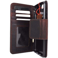 genuine italian oiled  leather slim case for iphone 7 plus cover book wallet credit card  luxurey flip slim magnetic RFID Pay
