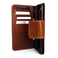 genuine real  leather slim case for iphone 7 plus cover book wallet credit card  luxurey flip slim magnetic RFID Pay