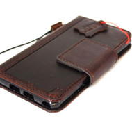 genuine vintage full leather Case for Samsung Galaxy s7 plus book rfid pay  wallet luxury cover 7 slim magnetic