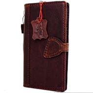Genuine Real  leather slim case for iphone 7 plus cover book wallet credit card  luxurey flip slim magnetic RFID Pay PREMUINE