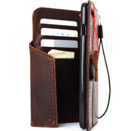 Genuine Real  leather slim case for iphone 7 plus cover book wallet credit card  luxurey flip slim magnetic RFID Pay PREMIUM 3D 60s