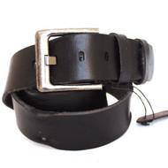 Genuine full Leather belt 43mm mens womens Waist handmade classic black for size M new IL