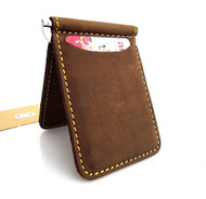 Genuine buffalo Leather man mini wallet Money id credit cards pocket small style lite