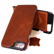 Genuine italian FULL leather case for iphone 7  hard cover  luxurey  slim brown thin vintage style