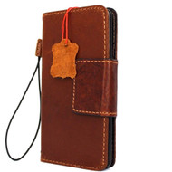 genuine oiled leather Case For LG V20 book wallet cover  luxury cards slots handmade  Art 20 v Classic bright brown daviscase