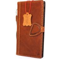 Genuine vintage Real  leather slim case for iphone 7 plus cover book wallet credit card  luxurey flip slim magnetic RFID Pay lite
