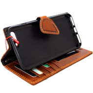 Genuine vintage Real  leather slim case for iphone 7 plus cover book wallet credit card  luxurey flip slim magnetic RFID Pay lite