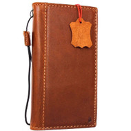 Genuine vintage Real  leather slim case for iphone 7 plus cover book wallet credit card  luxurey flip slim Classic RFID Pay lite