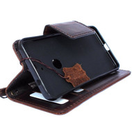 Genuine oiled vintage leather Case for Google Pixel handmade book wallet luxury cover magnetic IL
