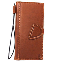 Genuine vintage natural leather Case for Google Pixel book wallet luxury slim closure cover magnetic bright brown cards slots daviscase
