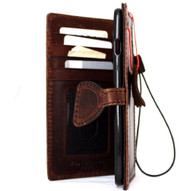 Genuine vintage natural leather Case for Google Pixel book wallet luxury magnet cover thin magnetic brown