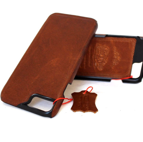 Genuine  luxury6 6s  iphone 7 handmade leather case slim (7) oiled italia