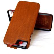 for apple iphone 7 Genuine  handmade leather case slim (R)
