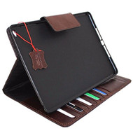 Genuine Vintage Leather Handmade Case for Apple Ipad Pro 12 .9 DavisCase Cover Handbag Stand Luxury Credit Cards