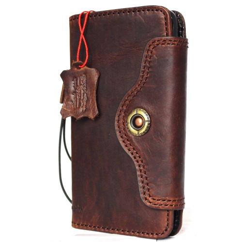 galaxy s8 leather case slim handmade vintage retro luxury  (1)