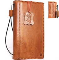 Genuine natural leather Case for samsung galaxy s8 plus book wallet luxury cover 8 s handmade bright brown cards slots slim daviscase