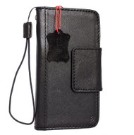 Genuine retro leather case for samsung galaxy s8 book wallet magnet cover luxury cards slots black slim 8 s Daviscase