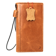 Genuine vintage leather Case for LG G6 book wallet cover slim luxury light brown thin handmade Daviscase H870 H870K H870V H870S