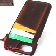 genuine leather Case for iPhone 7 cover magnetic cards stand holder slim vintage Davis