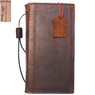 Genuine vintage leather case for Samsung Galaxy Note 8 book wallet cover slim brown cards slots Daviscase