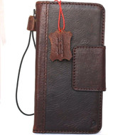 genuine vintage leather case for Samsung Galaxy Note 8 book wallet magnet closure cover luxury cards slots classic brown Daviscase