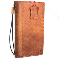 Genuine real leather Case for Oppo R11 book wallet cover Cards slots id handmade slim brown Davis