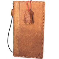 Genuine vintage leather case for samsung galaxy note 8 book wallet cover soft vintage brown cards slots IL slim daviscase