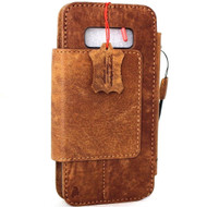 Genuine leather case for samsung galaxy note 8 book wallet detachable cover soft vintage handmade cards slots IL slim daviscase