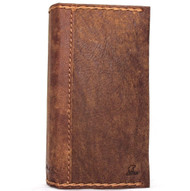 genuine real leather Case for iPhone 8 vintage cover credit cards slots luxury brown Daviscase