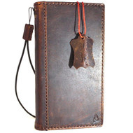 Genuine vintage leather Case  for sony Xperia ZX book wallet slim cover  oiled italian brown thin  handmade IL daviscase