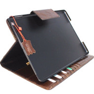 Genuine vintage Leather case for apple iPad 9.7 (2017)hard magnetic cover brown slim luxury cards slots daviscase  A1822