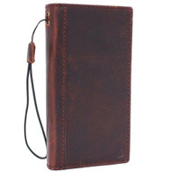 Genuine real leather Case for Htc  U11 book wallet luxury classc holder cover s Businesse cards slots slim elastic strap brown daviscase U 11