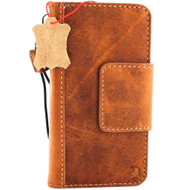 Genuine real leather Case for iPhone x vintage cover credit cards magnetic slots luxury lite Hand made Daviscase 10