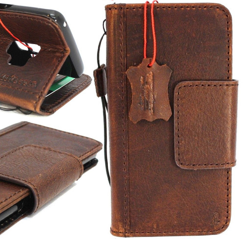 Genuine natural vintage leather case for samsung galaxy s9 book wallet luxury magnet cover slim Holder Daviscase prime The
