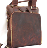 Genuine  vintage Leather Bag Messenger for iPad air 4 handbag man tote ebook 11 tablet mini