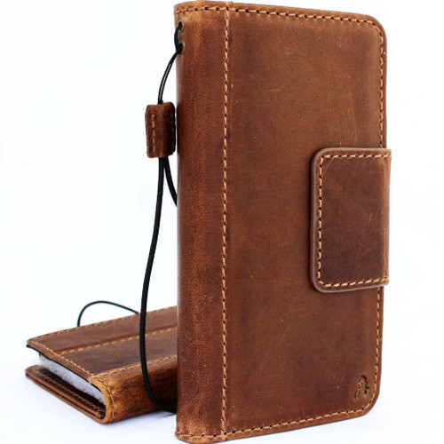 Genuine Tan vintage leather case for samsung galaxy s9 plus book wallet luxury magnet gel cover slim Holder  Jafo