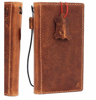 Genuine vintage leather case for samsung galaxy s9 book wallet cover luxury slim 9 s Daviscase Tan embossing custom stamping name jafo