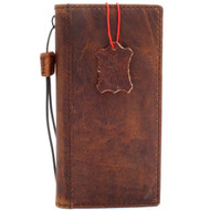 Genuine vintage leather case for samsung galaxy note 8 book wallet cover soft vintage brown cards slots IL slim daviscase work QI wireless charging Jafo ch