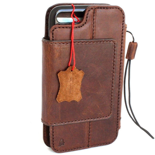 Genuine leather Case for iPhone 8 Plus book wallet cover detachabl magnetic holder vintage style Jafo 1948  il