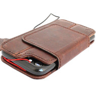 Genuine leather Case for iphone 8 book wallet magnet closure cover Removable 7 magnetic handmade vintage brown cards slots Daviscase