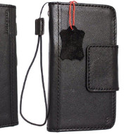 Genuine vintage leather case for Samsung Galaxy Note 9 book wallet magnetic closure black cover luxury cards slots classic Daviscase